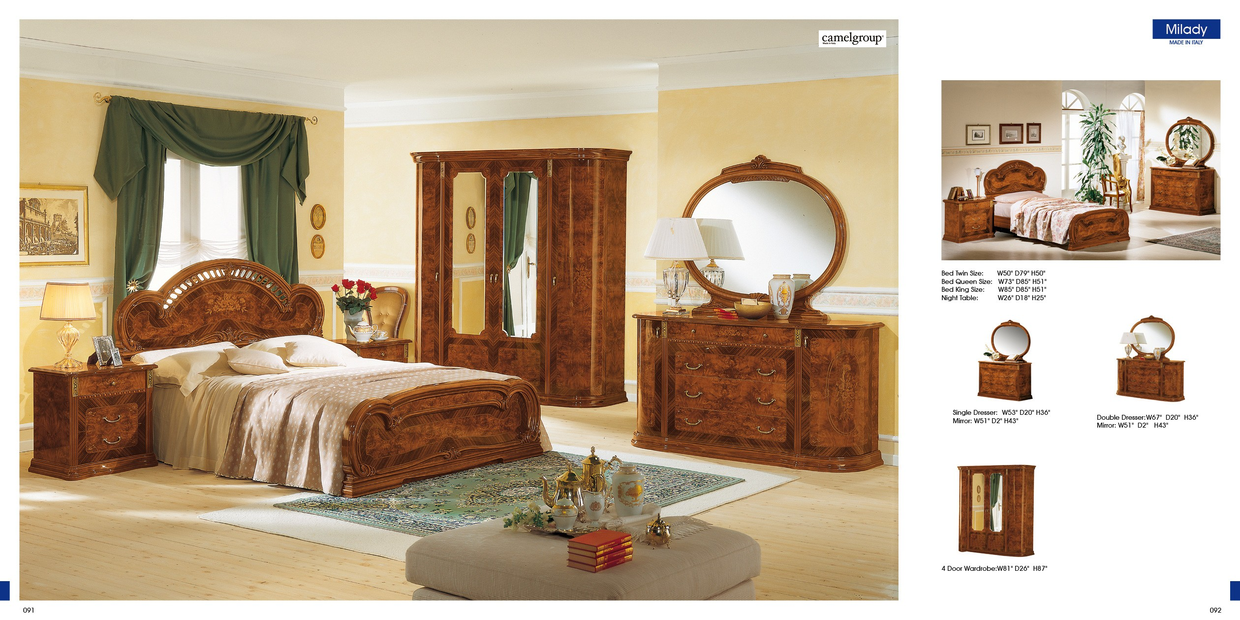ESF Classic Bedrooms Milady Walnut