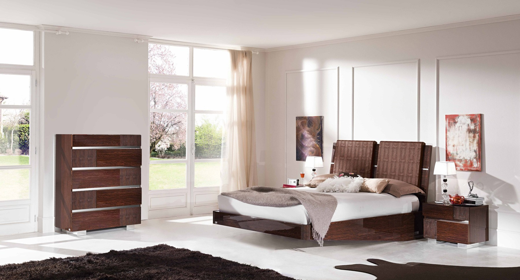 ESF Modern Bedrooms Status Caprice Bedroom Walnut