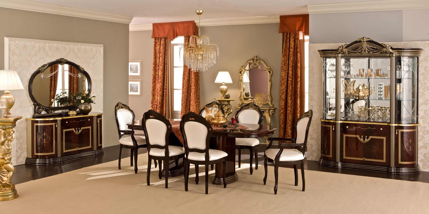 ESF Classic Dining Rooms Luxor Day Mahogany