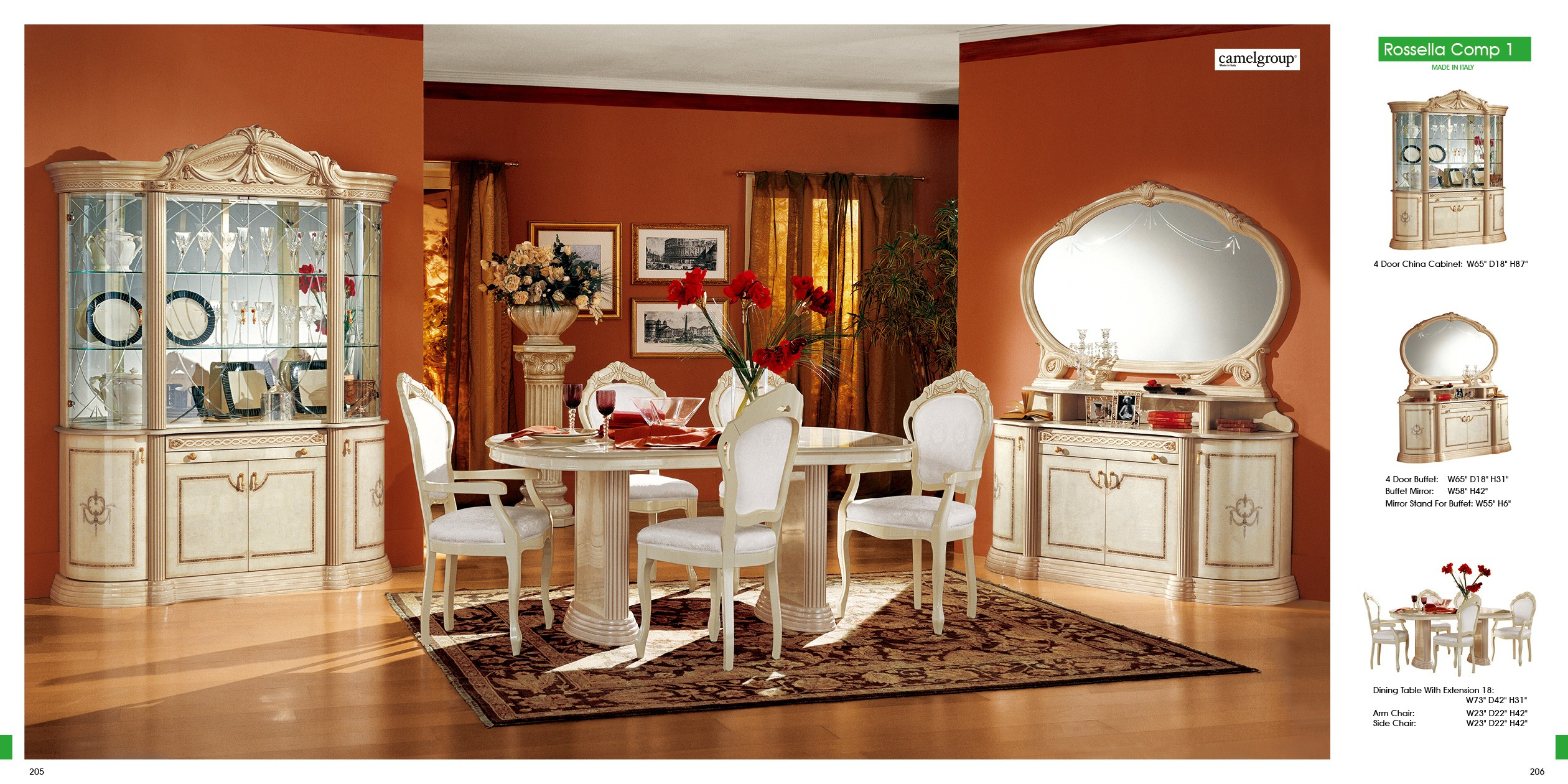 ESF Classic Dining Rooms Rosella Dining Comp 1