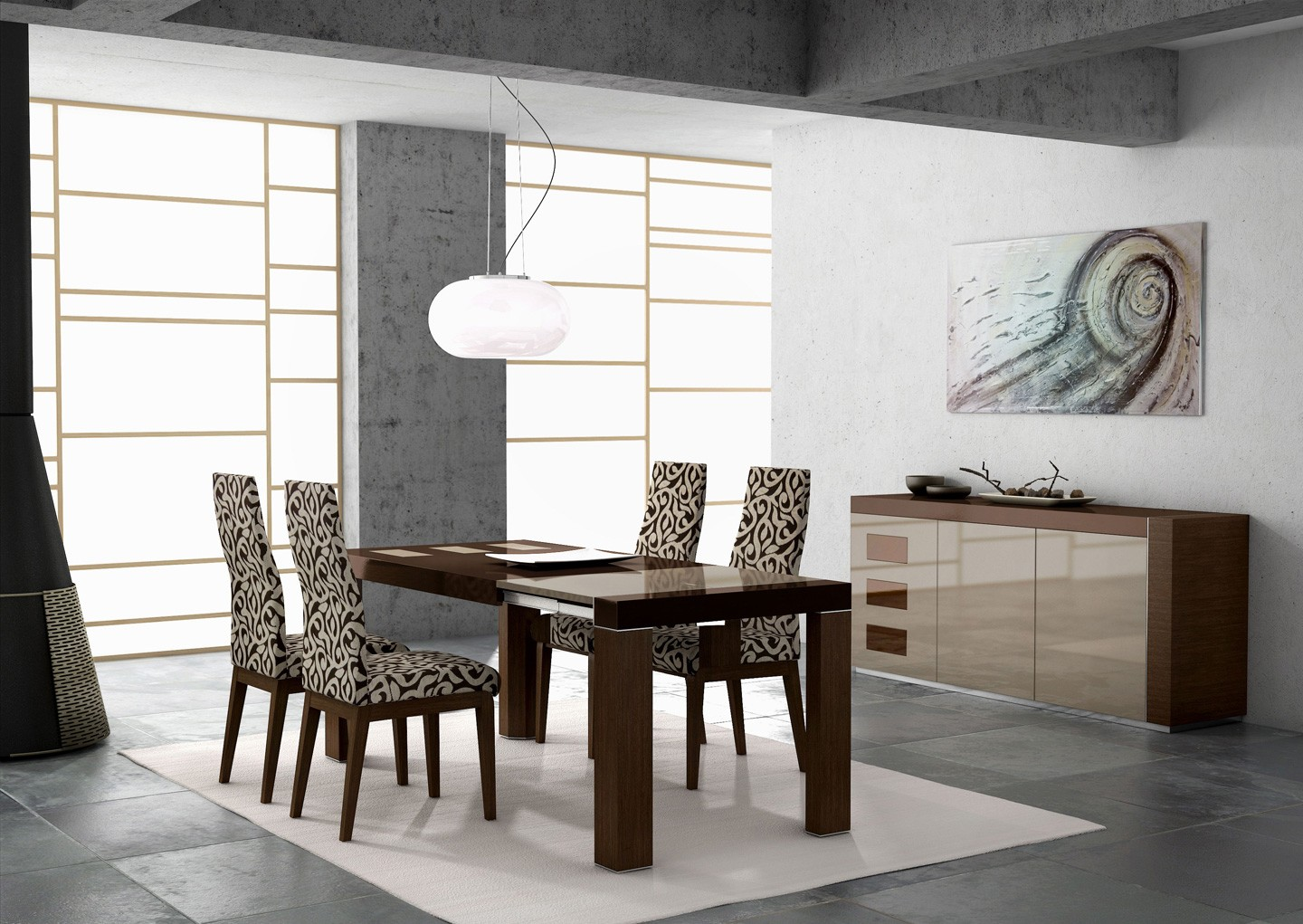 ESF Mejor Imposible Spain Irene Table Ada Chairs Lacquered