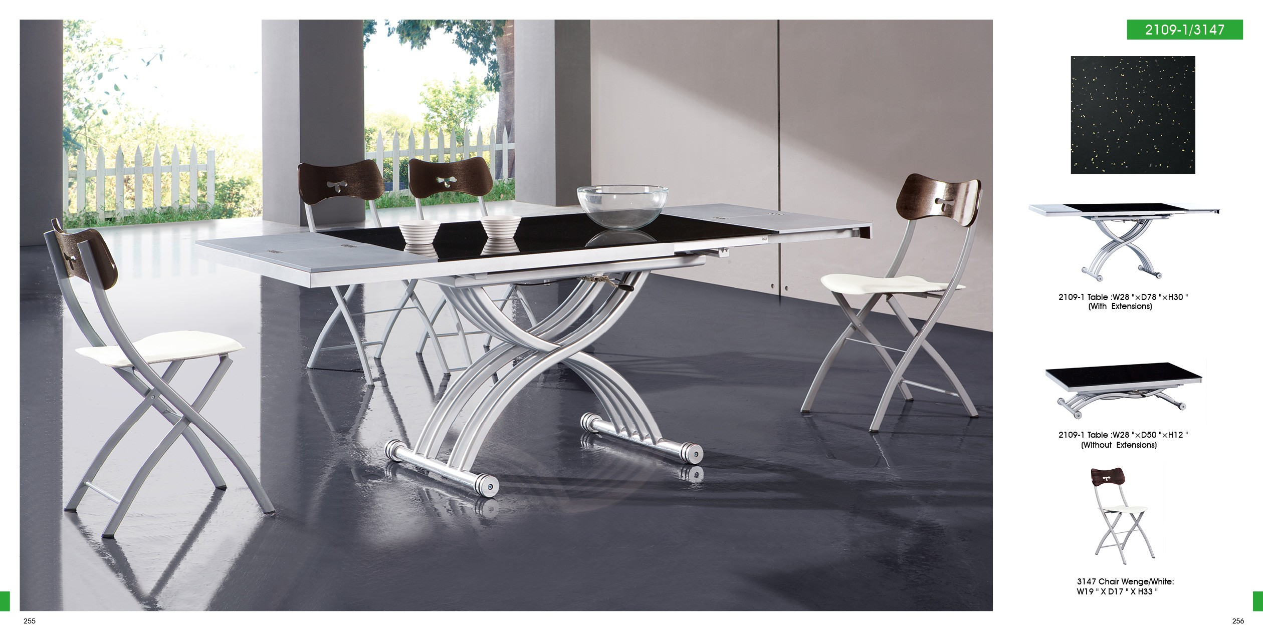 ESF Modern Dining Rooms 2109 Table and 3147 Chairs