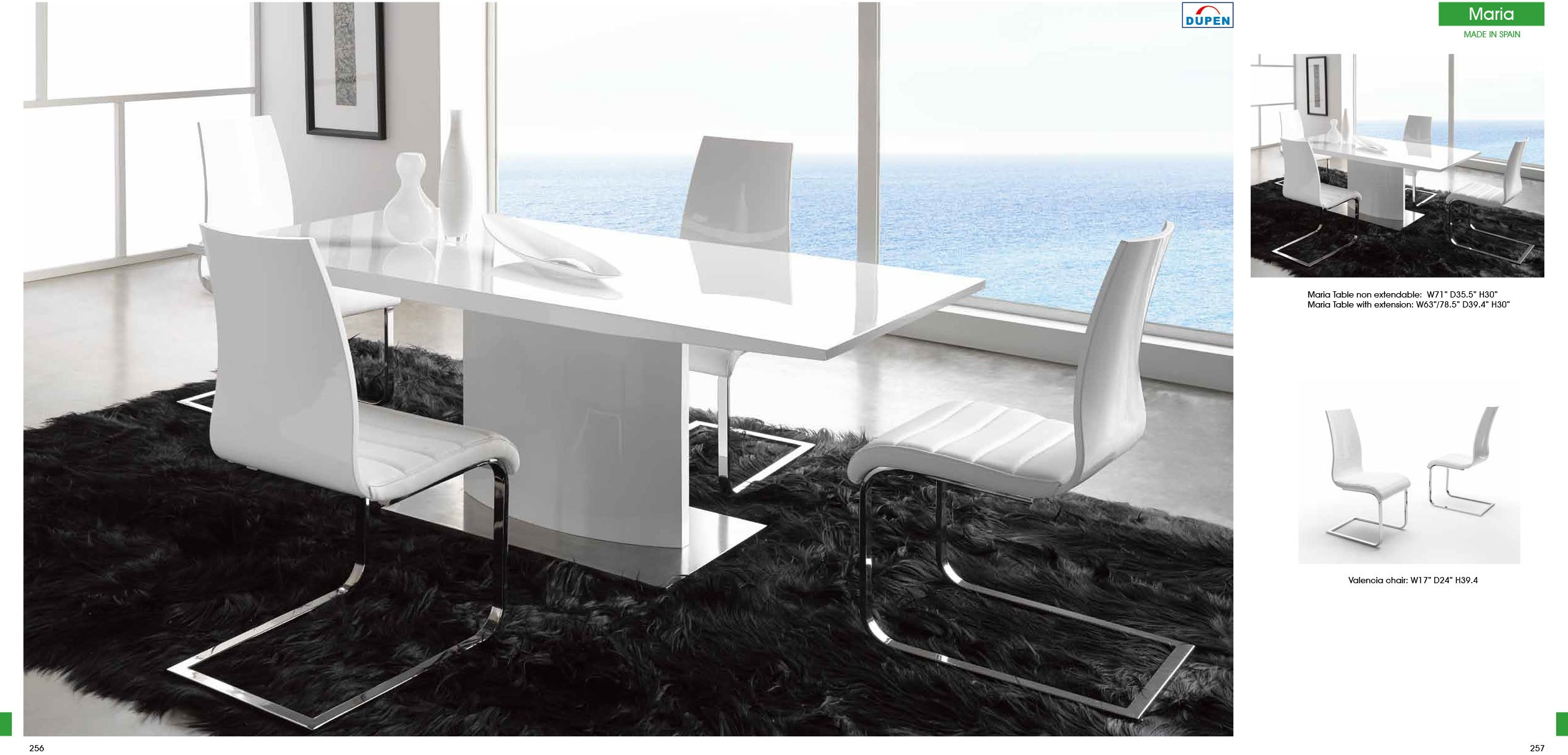 ESF Dupen Dining Spain Maria Table DT01 with Valencia Chairs
