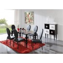 ESF Modern Dining Rooms 767 Table and 1001 Chairs Black, w100 Buffet