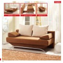 ESF Sofa Beds Croma Brown
