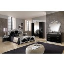 ESF MCS Classic Bedrooms Italy Sara Black w/Silver