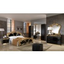 ESF MCS Classic Bedrooms Italy Sara Black w/Gold