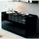 Diamond Dresser w 3 Drawers in Black Lacquer Finish