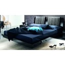 Diamond Queen Bed in Black Lacquer Finish