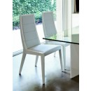 Sapphire Upholstered Chair in White Laquered Finish
