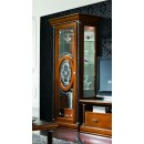 Platinum Curio Left Door Cabinet in Light Walnut Finish